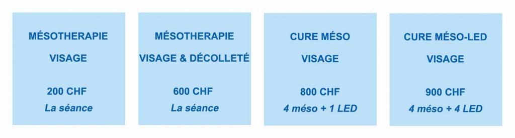 Nos soins et cures de mésothérapie